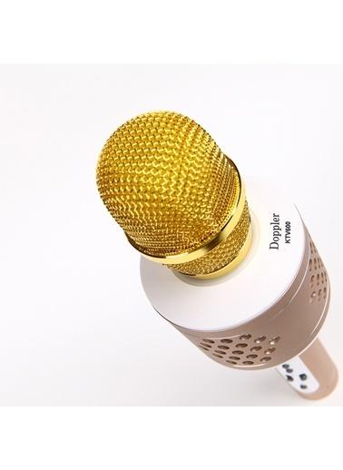Doppler Karaoke Mikrofon - Şık Dizayn Altın